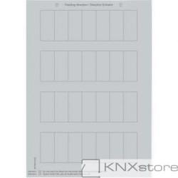 Schneider Electric Merten KNX - System M - archy štítků pro tlačítkové panely - silver