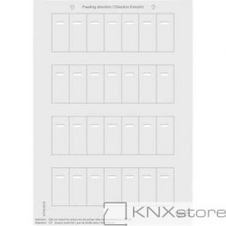 Schneider Electric Merten KNX-System M-archy štítků pro tlač. panely s IČ přijímačem-polar white