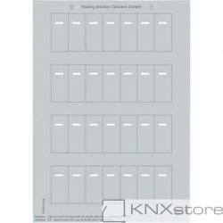 Schneider Electric Merten KNX-System M-archy štítků pro tlačítkové panely s IČ přijímačem-silver