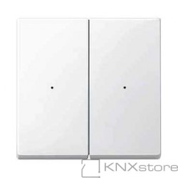 Schneider Electric Merten KNX - System M - kryty pro 2-násobný tlač. modul - polar wh.