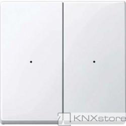 Schneider Electric Merten KNX - System M - kryty pro 2-násobný tlač. modul - active wh.