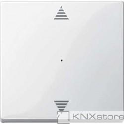 Schneider Electric Merten KNX - System M - kryt pro 1-násobný tlač. modul - šipky - polar wh.