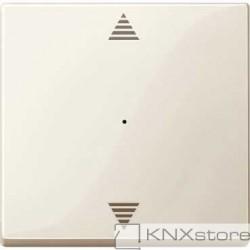 Schneider Electric Merten KNX - System M - kryt pro 1-násobný tlač. modul - šipky - white cream