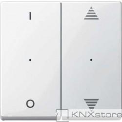 Schneider Electric Merten KNX - System M - kryty pro 2-násobný tlač. modul - 1/0+šipky - polar wh.