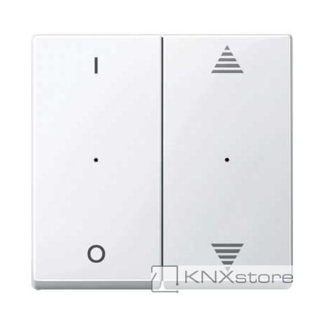 Schneider Electric Merten KNX - System M - kryty pro 2-násobný tlač. modul - 1/0+šipky - active wh.
