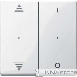 Schneider Electric Merten KNX - System M - kryty pro 2-násobný tlač. modul - šipky+1/0 - polar wh.