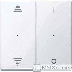 Schneider Electric Merten KNX - System M - kryty pro 2-násobný tlač. modul - šipky+1/0 - active wh.