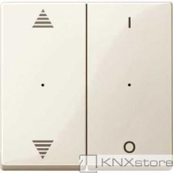Schneider Electric Merten KNX - System M - kryty pro 2-násobný tlač. modul - šipky+1/0 - white cr