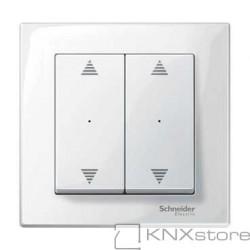 Schneider Electric Merten KNX - System M - kryty pro 2-násobný tlač. modul - 2xšipky - polar wh.