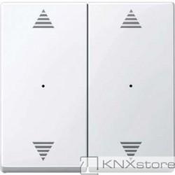 Schneider Electric Merten KNX - System M - kryty pro 2-násobný tlač. modul - 2xšipky - active wh.