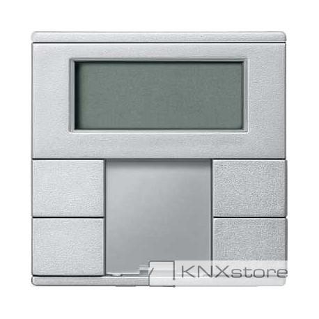 Schneider Electric Merten KNX - System M - multifunkční tlač. panel - 2násobný plus+RTC - aluminium