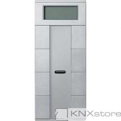 Schneider Electric Merten KNX - System M - multifunkční tlač. panel - 4nás. plus+RTC+IČ - aluminium