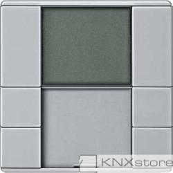 Schneider Electric KNX regulátor teploty místnosti s displejem, Aluminium, Artec/Trancent/Antique