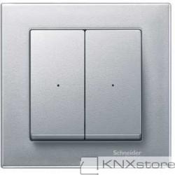 Schneider Electric Merten KNX - System M - kryty pro 2-násobný tlač. modul - aluminium
