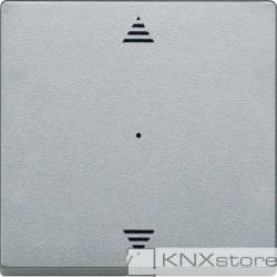 Schneider Electric Merten KNX - System M - kryt pro 1-násobný tlač. modul - šipky - aluminium