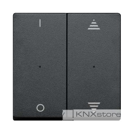 Schneider Electric Merten KNX - System M - kryty pro 2-násobný tlač. modul - 1/0+šipky - antracit