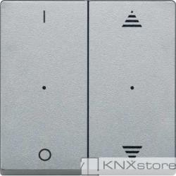 Schneider Electric Merten KNX - System M - kryty pro 2-násobný tlač. modul - 1/0+šipky - aluminium