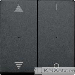 Schneider Electric Merten KNX - System M - kryty pro 2-násobný tlač. modul - šipky+1/0 - antracit