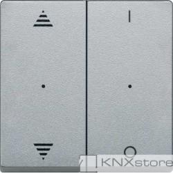 Schneider Electric Merten KNX - System M - kryty pro 2-násobný tlač. modul - šipky+1/0 - aluminium