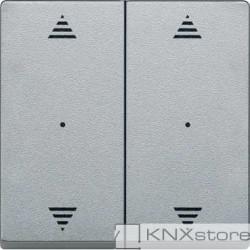 Schneider Electric Merten KNX - System M - kryty pro 2-násobný tlač. modul - 2xšipky - aluminium